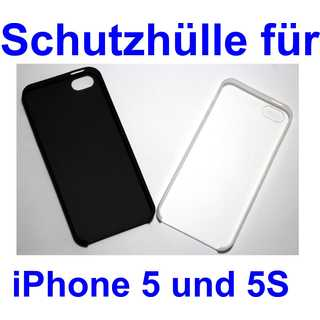0.3mm Ultra Slim Case Matte Frosted Transparent Clear Case Soft TPU Cover Case for iPhone 5 and 5S Schwarz